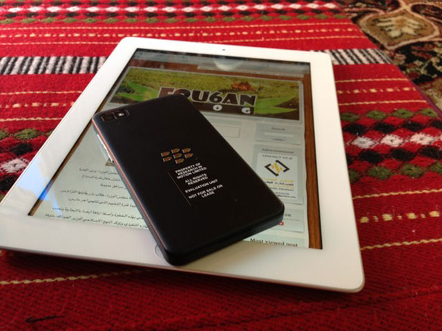 BlackBerry 10 : vue de dos