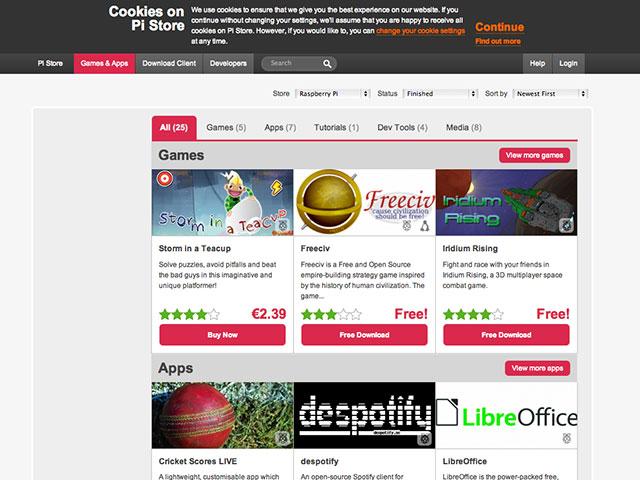 Un App Store pour le Raspberry Pi