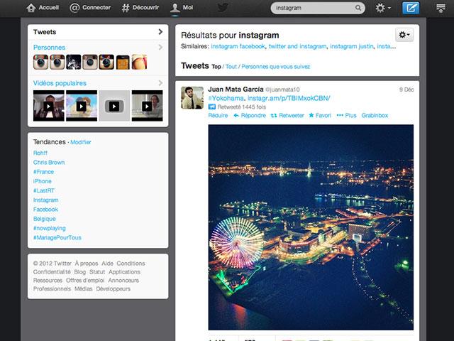 Afficher les images Instagram dans Twitter