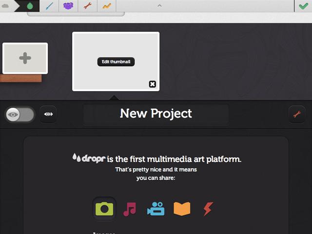 Dropr : la construction du contenu