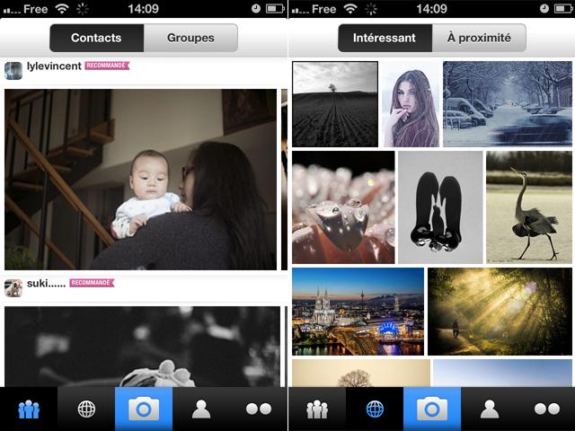 Flickr pour iOS : les photos des amis et les photos populaires