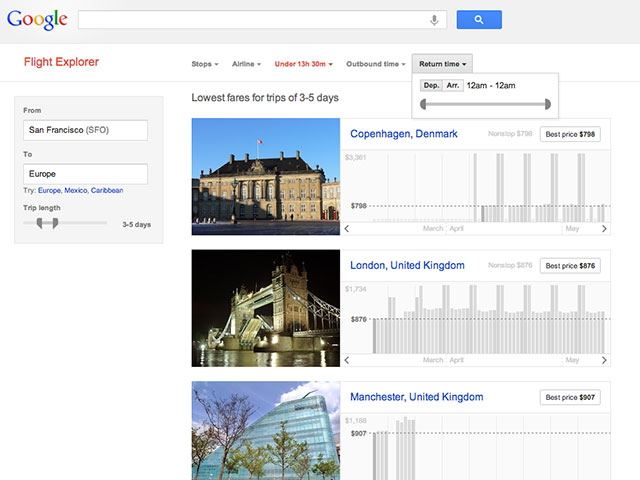 Google Flight Explorer : pour acheter votre billet d'avion au meilleur moment