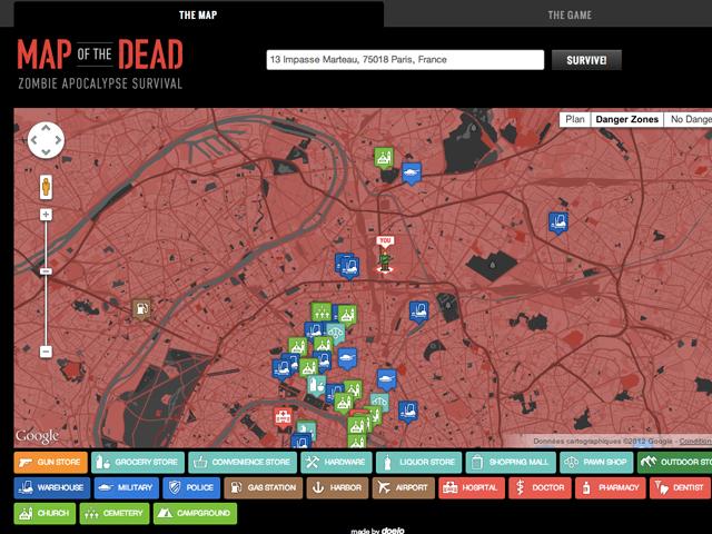 Map of the Dead : l'outil incontournable pour survivre à une attaque de zombies