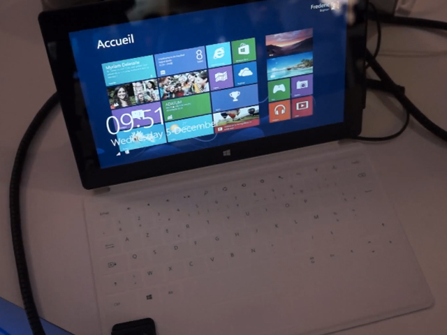 LeWeb'12 : présentation rapide de la Microsoft Surface