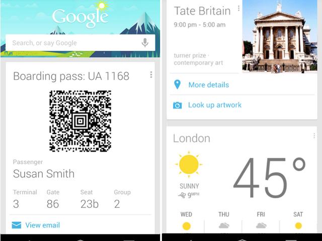 Google Now : une petite mise à jour sur Android
