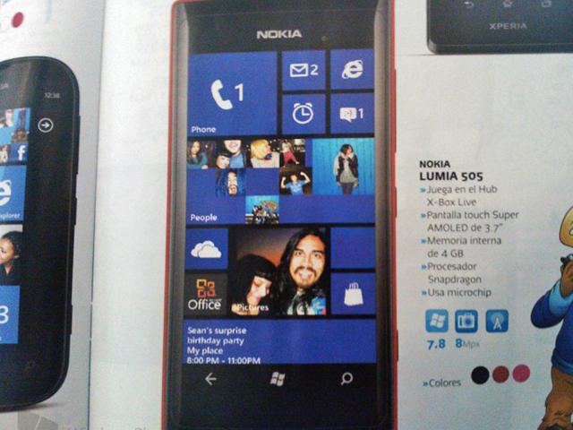 Nokia Lumia 505 : bientôt un nouveau Lumia sous Windows Phone !
