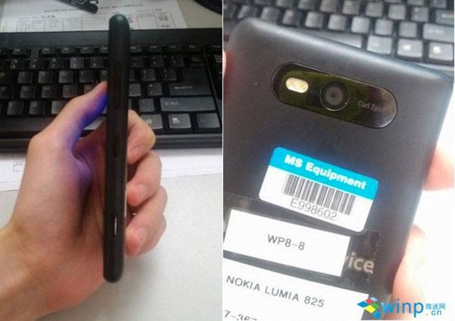 Nokia Lumia 825 : de profil et de dos