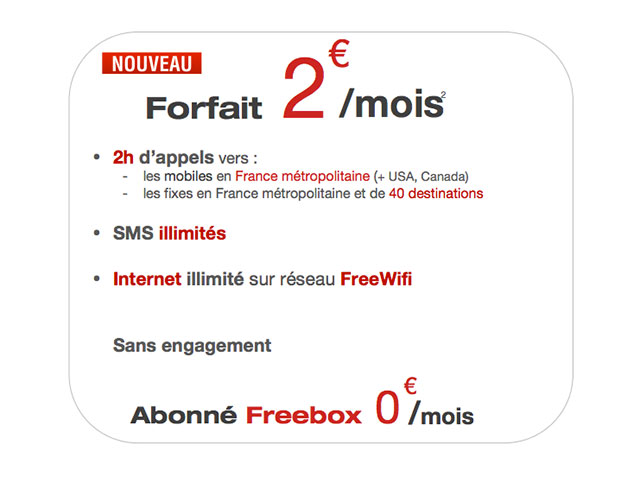 Free Mobile : de nouvelles options pour le forfait à 2€
