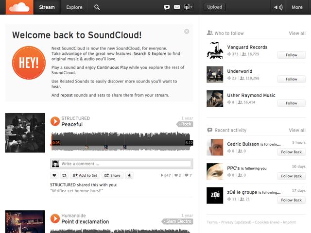 LeWeb'12 : une nouvelle version pour SoundCloud