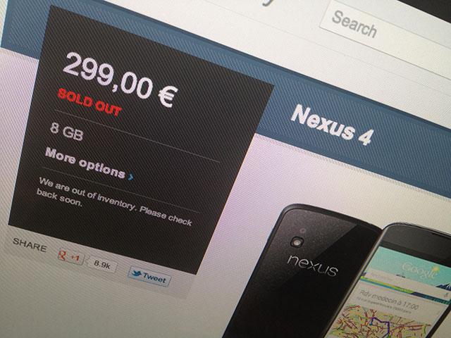 Nexus 4 : tout est de la faute de LG !