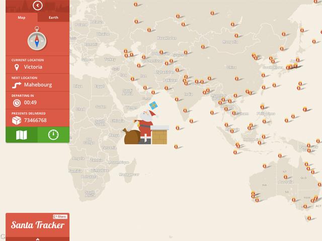 suivre le pere noel Suivez le Père Noël sur Google Maps ! suivre le pere noel