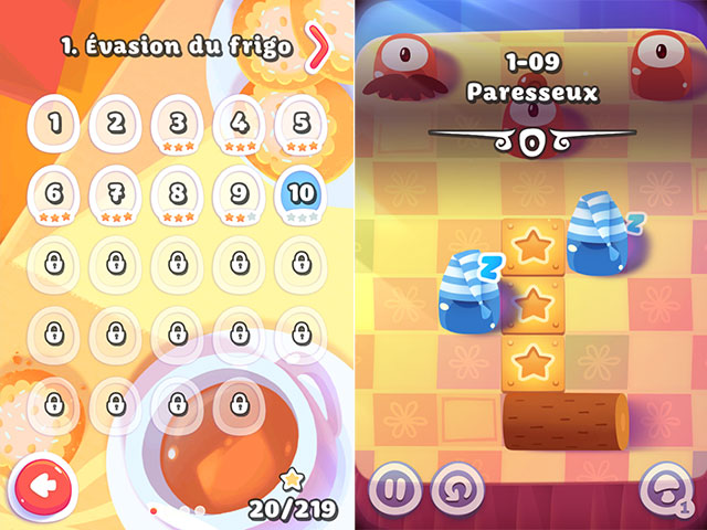 Pudding Monsters : les niveaux