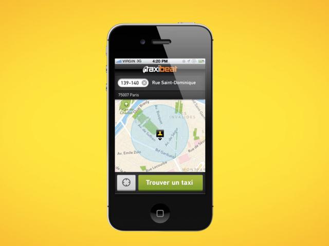 LeWeb'12 : Taxibeat, pour louer un taxi avec son smartphone