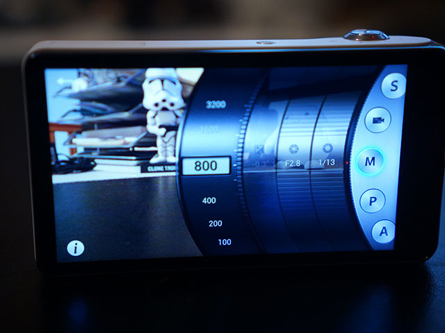 Samsung Galaxy Camera : une autre vue de l'application photo