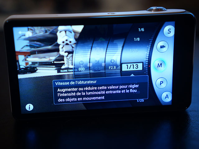 Samsung Galaxy Camera : encore une vue de l'application photo