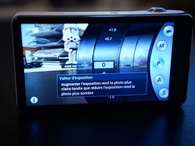 Samsung Galaxy Camera: l'application photo