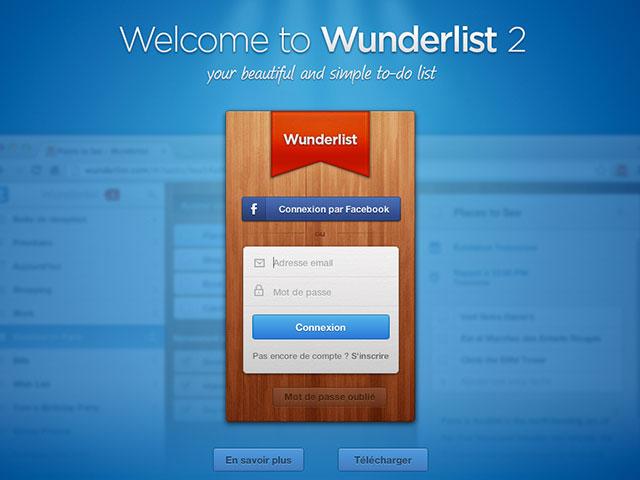 Wunderlist 2.0 est disponible !