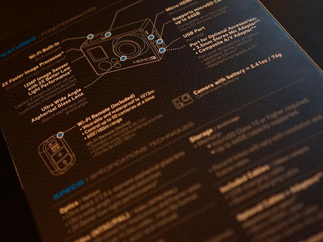 "GoPro Hero 3 ""Black Edition"" : le dos de la boite"