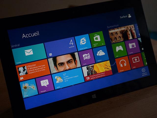 Microsoft Surface RT : en mode paysage