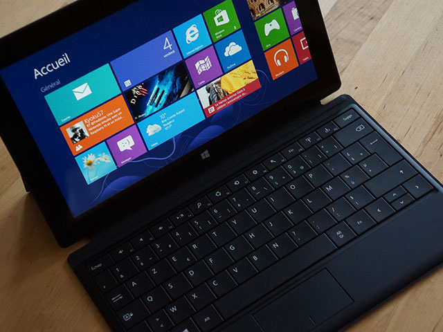 Microsoft Surface RT : le clavier et le touchpad