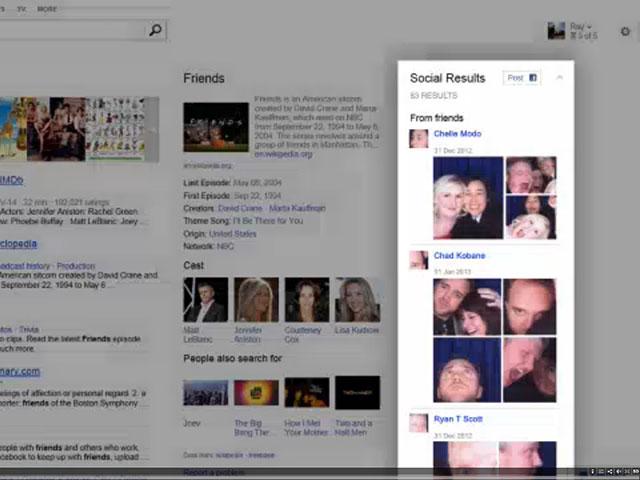 Bing : une meilleure intégration de Facebook dans les résultats de recherche