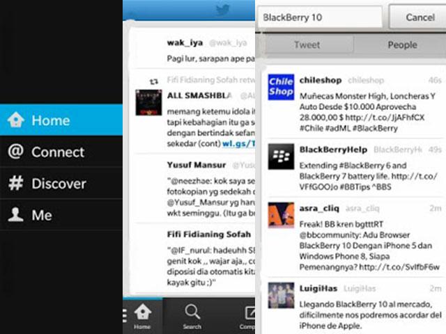 BlackBerry 10 : de nouvelles captures avec du Twitter et du Google Talk dedans