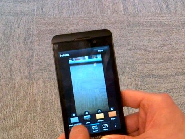 BlackBerry 10 : l'application dédiée aux photos en vidéo