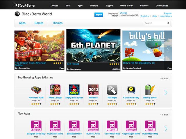 BlackBerry World : quelques infos sur l'achat de musique et sur la location de films