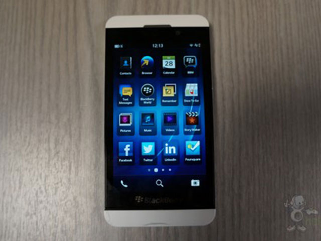 BlackBerry Z10 blanc : en pleine action