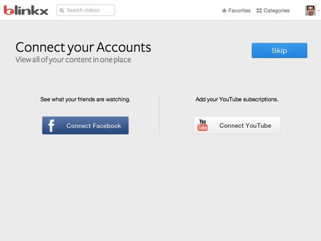 Blinkx : la connexion aux profils