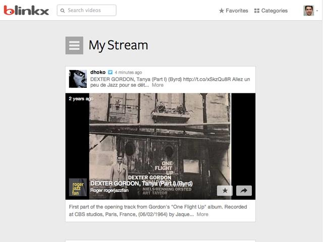 Blinkx : le Stream