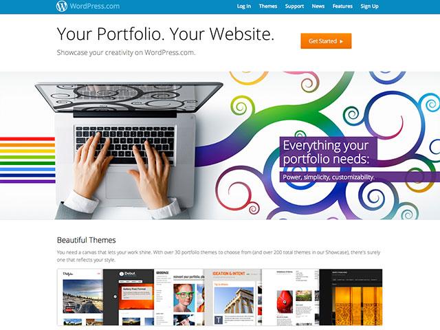 Wordpress.com vous propose désormais de créer votre portfolio