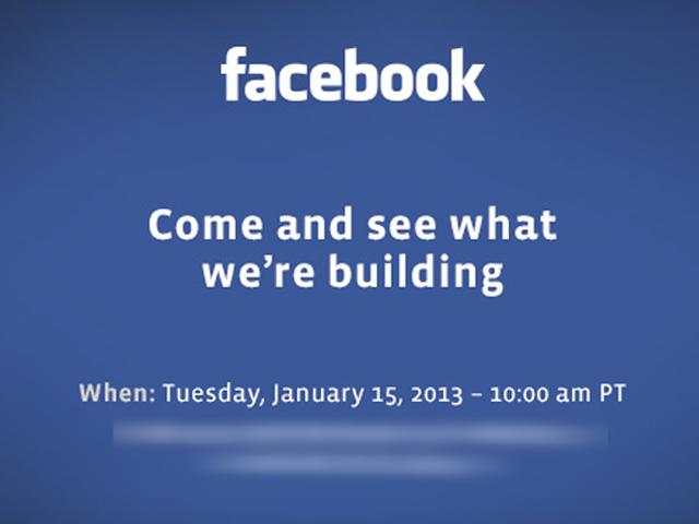 Facebook : un évènement le 15 janvier