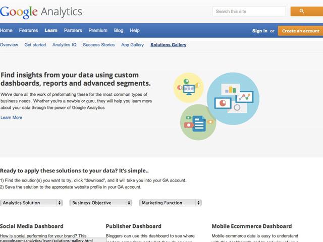 Google Analytics Gallery, une galerie de tableaux de bord pour ne pas se prendre la tête