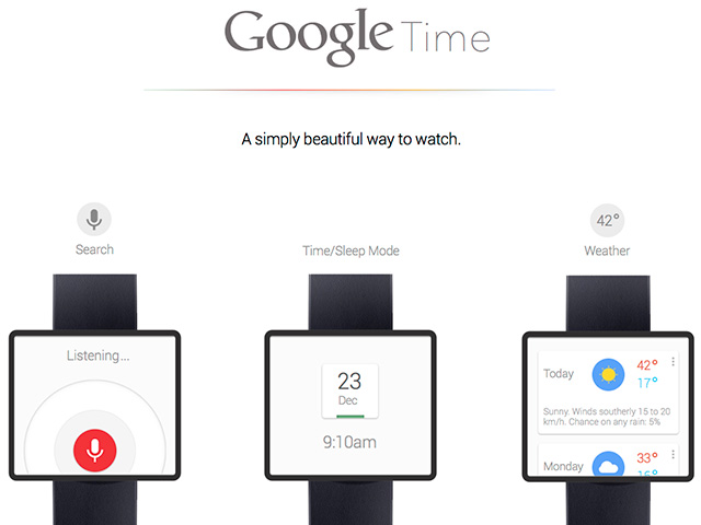 Google Time : un concept pour une SmartWatch Google