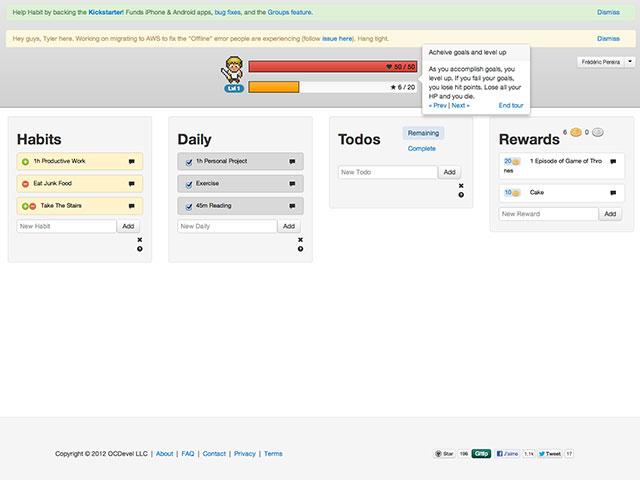 HabitRPG, un gestionnaire de tâches en mode RPG