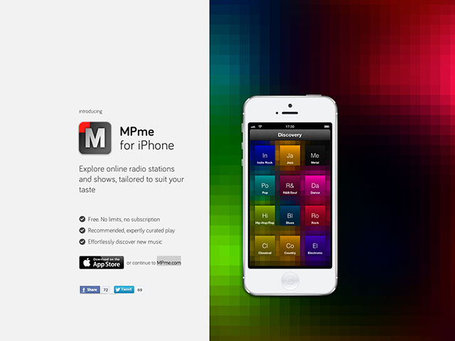 MPme, la radio intelligente sur iPhone et iPad