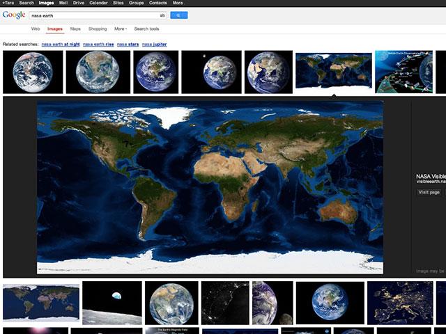 Google : une nouvelle interface pour la recherche d'images
