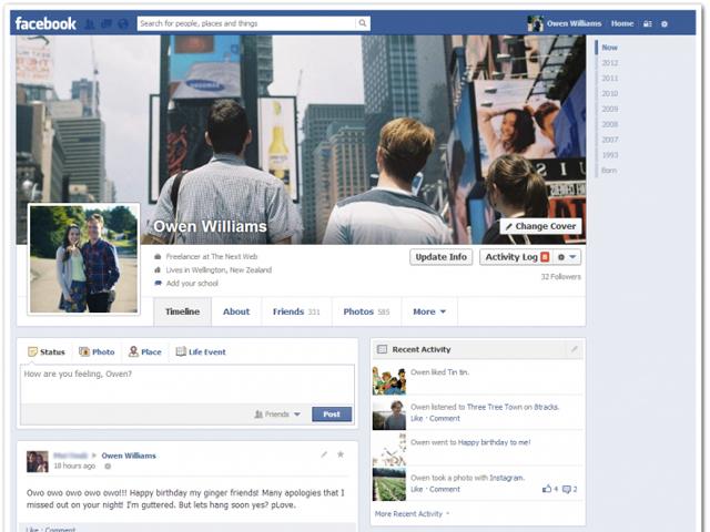 Facebook : les captures de la nouvelle Timeline