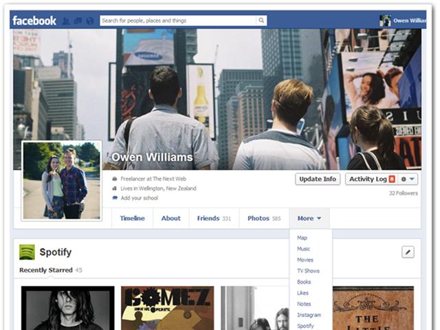 Nouvelle Timeline Facebook : les onglets