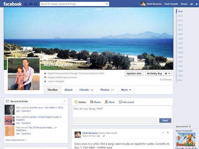 Facebook teste (encore) une nouvelle version de la Timeline