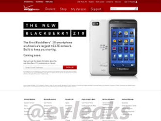 "BlackBerry Z10 : une photo du modèle ""silver"""