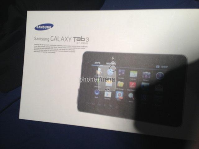 Samsung Galaxy Tab 3 : la boite