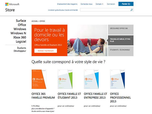 Office 365 & Office 2013 : les prix des versions