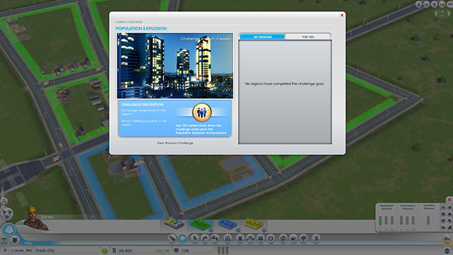 Sim City 2013 : les challenges