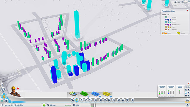 Sim City 2013 : la vue de la population