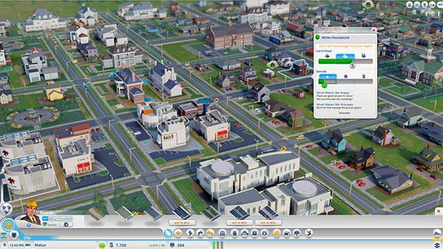 Sim City 2013 : la fenêtre d'une habitation