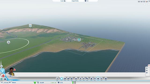 Sim City 2013 : la vue de la région