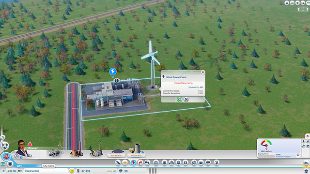 Sim City 2013 : construction d'une centrale éolienne