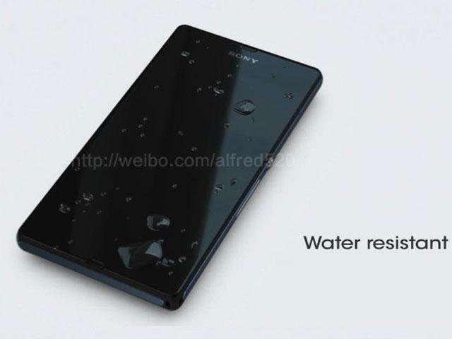Sony Xperia Z : résistant à l'eau